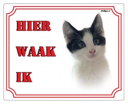 Waakbord eigen foto kat