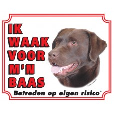 Standaard waakbord Labrador Bruin