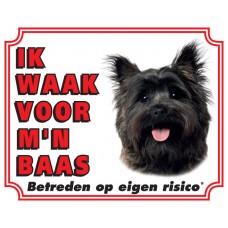 Standaard waakbord Cairn Terrier bruin