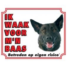 Standaard waakbord Hollandse Herder