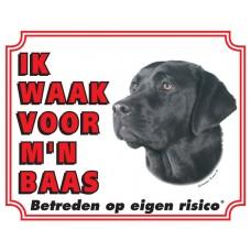Standaard waakbord Labrador Zwart