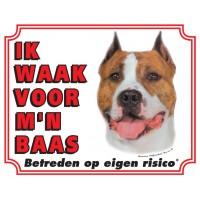 Standaard waakbord American Staffordshire Terrier