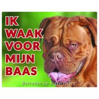 Standaard waakbord Bordeaux Dog