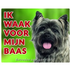 Standaard waakbord Cairn Terrier grijsbruin