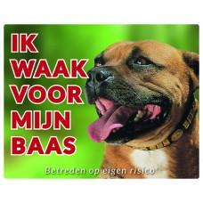 Standaard waakbord Staffordshire Bull Terrier