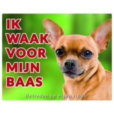 Standaard waakbord Chihuahua korthaar