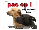 Waakborden PetSigns met eigen foto