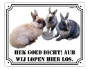 Waakbord konijnen